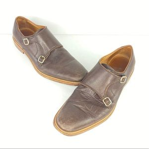 Johnston & Murphy Brown Leather Italian Shoes 11M